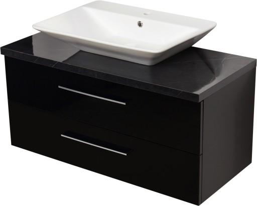 Bardzo dobra MOSSA meble łazienkowe czarna szafka +umywalka 100 7124485522 EI76