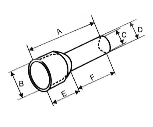 TULEJKA KABLOWA IZOLOWANA PODWÓJNA 2x2,5 mm2 100sz