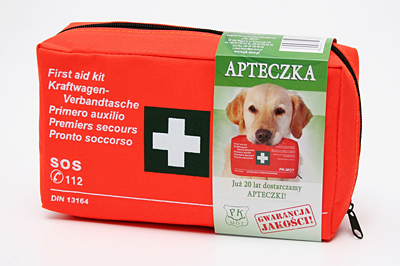 FIRST AID KIT CAR DIN 13164 ALL OVER EUROPE +MOUTHPIECE