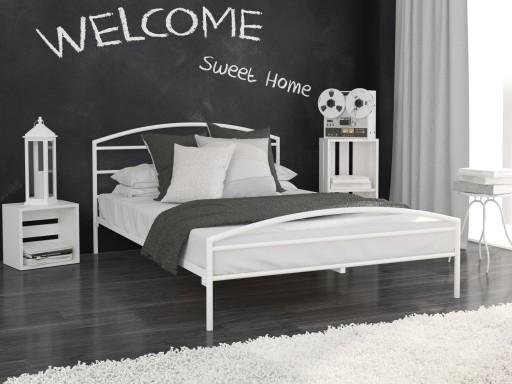 łóżko Metalowe Lak System 180x200 Wzór 19 Stelaż