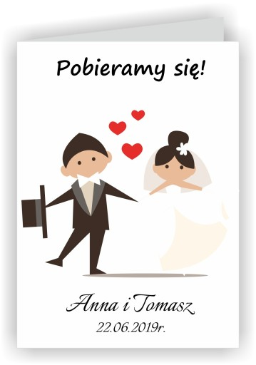 Zaproszenia Zawiadomienia Na ślub ślub Cywilny 7626955959 Allegropl