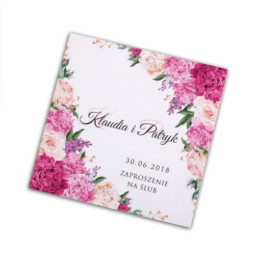 Zaproszenia ślubne Rustykalne Kwiatowe Boho New 7378434499 Allegropl