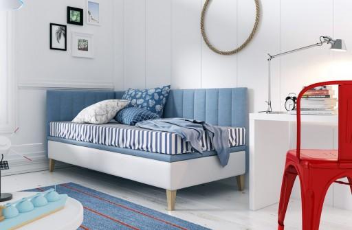 Intaro 9 Pojedyncze łóżko Tapicerowane Z Zagłowiem
