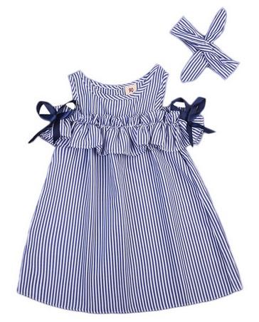 Wakacyjna Sukienka Marynarska Paseczki Falbanki 7334085092 Allegro Pl