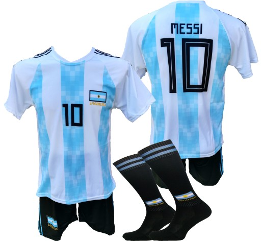 b2c5f6776 MESSI komplet strój piłkarski ARGENTYNA 128 i inne 7356306677 ...