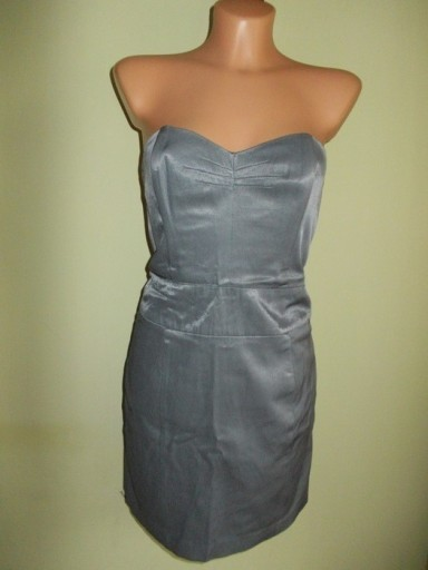 Sukienka ołówkowa srebrna MISS SELFRIDGE ( 38 )