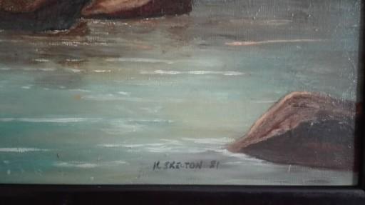 obraz,olejny,łabędzie
