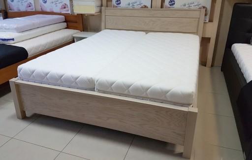 łóżko Drewniane Dębowe Ze Stelażem Zeus 180x200