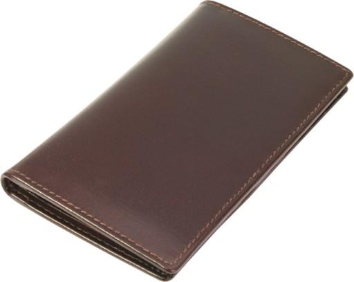 Etui na karty dokumenty GALO 201 brązowy skóra