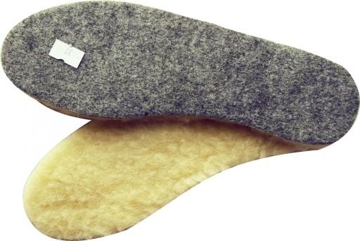 Wełniane wkładki do butów wełna filc 36-46