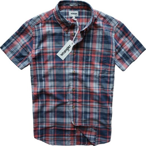 WRANGLER koszula slim krótki rękaw ROSE kratka L