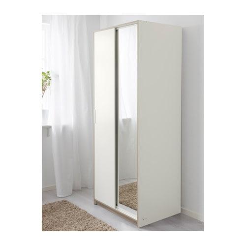 Ikea Szafa Z Lustrem Trysil 79x61x202 Cm 7426875586 Allegropl