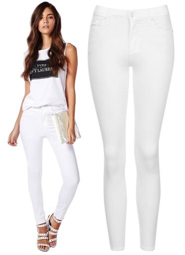 Spodnie Białe RURKI SLIM Skinny White Jeans L_40