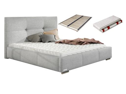 łóżko 180x200 Lily łoże Małżeńskie Stelaż Materac