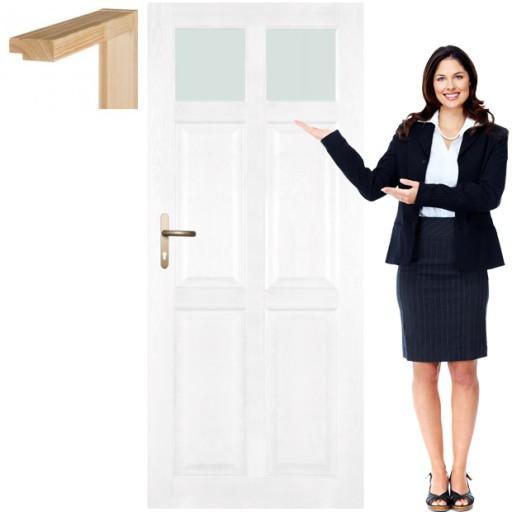 Drzwi Drewniane Z Ościeżnicą Do łazienki Wc Cm5 90