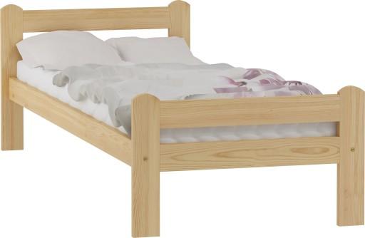 łóżko Drewniane Sosnowe Dorota 90x200 Stelaż