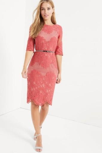 56066219cec53b Little Mistress ołówkowa midi sukienka koronka XS 7523839798 ...