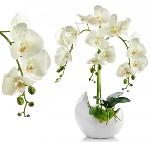 Sztuczny Storczyk Kwiaty Sztuczne Duży Biały Xxl 7188626736 Allegropl