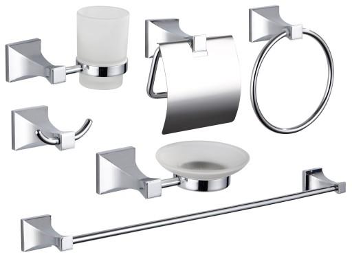 Akcesoria łazienkowe Wieszaki Metalowe Zestaw Roya