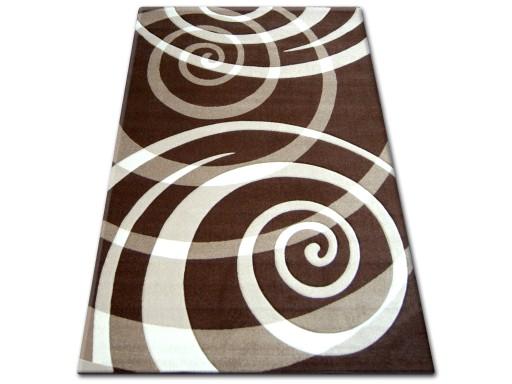 Dywany łuszczów Pilly 160x220 Koła Brąz At045