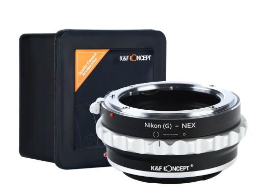 Firmowy K&F Adapter Sony NEX E-mount - Nikon G