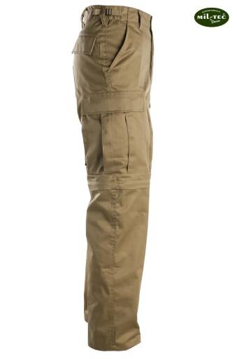 Trekkingowe SPODNIE BDU 2w1 ZIP OFF Khaki - M 7545768968 Odzież Męska Spodnie YF UIFVYF-1