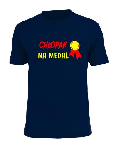 51db5bcfb2ef koszulka z nadrukiem chłopak na medal prezent wzór 7652844785 - Allegro.pl  - Więcej niż aukcje.