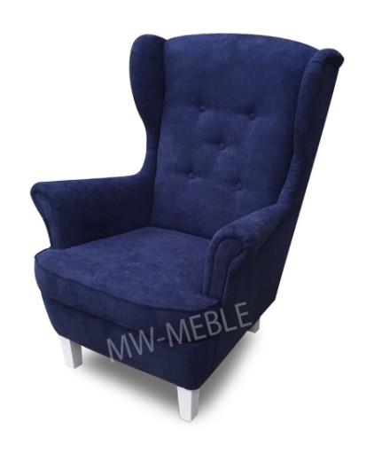 Fotel Uszak Granatowy