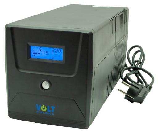 ZASILACZ AWARYJNY UPS LCD 1000VA 600W 2*7AH PROGRA