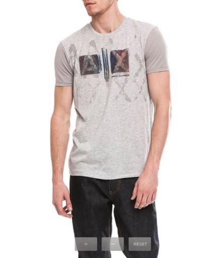 T-shirt męski Armani Exchange Artful Block Logo 7084224833 Odzież Męska T-shirty CY ODYSCY-5