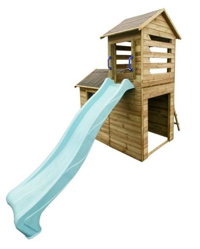 Drewniany Domek Ogrodowy Dla Dzieci Robert + Ślizg