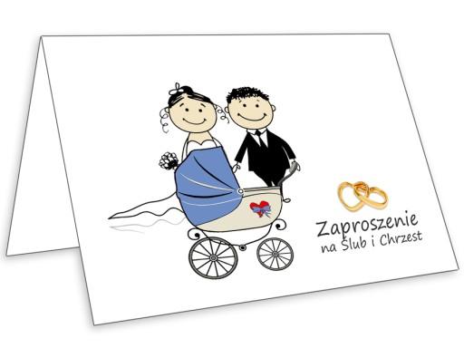 Zaproszenia Na ślub I Chrzest 2 W 1 Koperta 6939911546 Allegropl