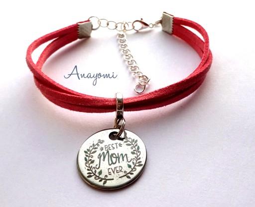 Bransoletka Rzemyk Dzien Matki Mama Wyznanie 7773262773 Allegro Pl