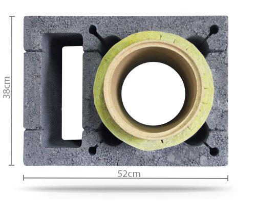 Komin Ceramiczny System Kominowy KW 6mb Fi 200 BK1