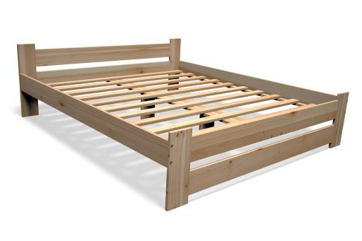 łóżko Drewniane Sosnowe 140x200 Stelaż Producent