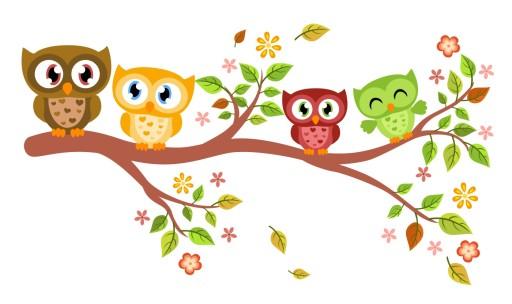 Naklejki na ścianę ścienne dla dzieci sówki sowy 7868867413 - Allegro.pl