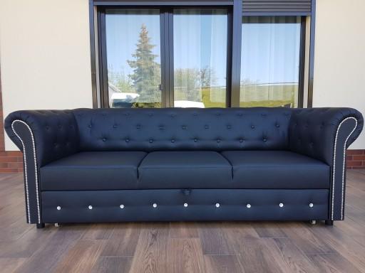 Sofa Pikowana Chesterfield Z Krysztalkami Cwiekami 7528860097