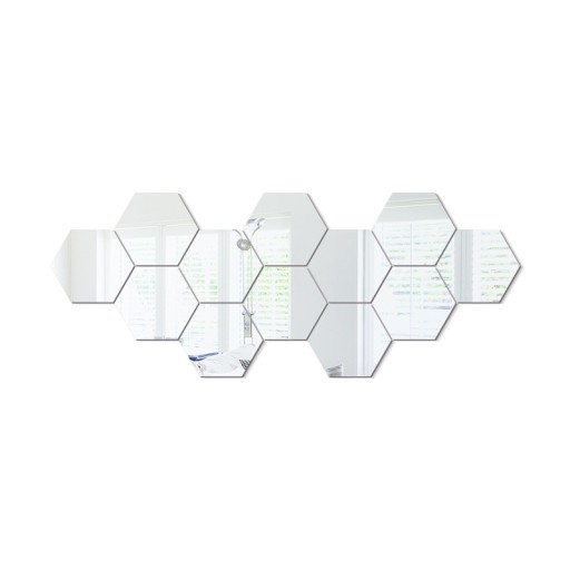 Lustro Akrylowe Hexagon Hexagony 3mm