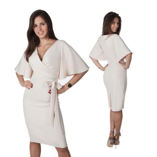 Sukienka Z Kokarda Unikat Na Wesele R 52 7462742182 Allegro Pl