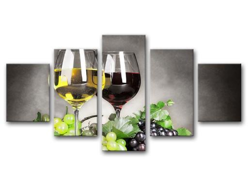 Obrazy Tryptyki Obraz Do Kuchni Wino 150x80 Tanio