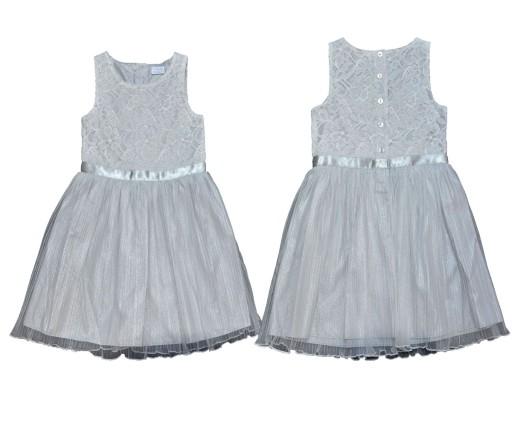 bec34a17f2 F F wizytowa sukienka koronka 92-98 2-3 kwiatk 7459759946 - Allegro.pl