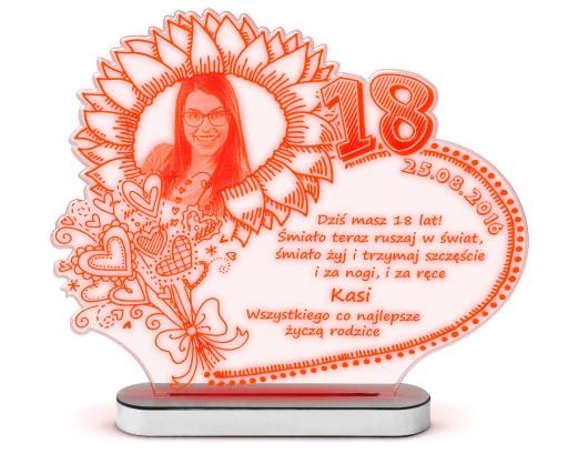 Prezent Na 18 Urodziny Imieniny Statuetka Lampka 6879104158 Allegro Pl