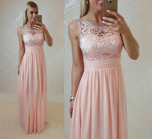 Zdobiona Sukienka ślub Cywilny Wesele Druhny 7336289675 Allegropl