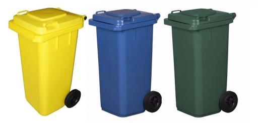 Pojemnik Kosz 120l Na śmieci Odpady Segregacja X3
