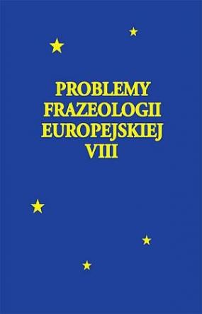 Problemy Frazeologii Europejskiej, tom VIII