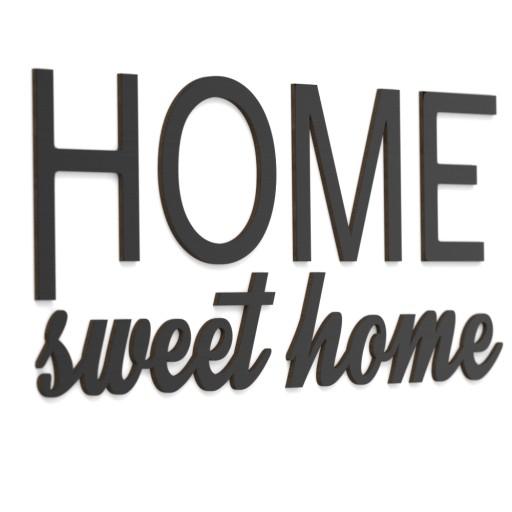 3D Napisy na ścianę Drewniane HOME sweet home