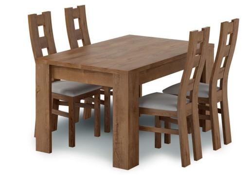 Piękny Stół 4 Krzesła Dąb Lefkas Dużo Kolorów 7372100954 Allegropl