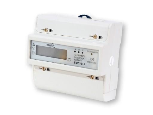 LICZNIK ENERGII ELEKTRYCZNEJ NA SZYNĘ 3F 20(100)A