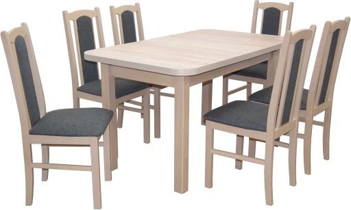 Rozkładany Stół Do Salonu Z 6 Krzesłami Zestaw