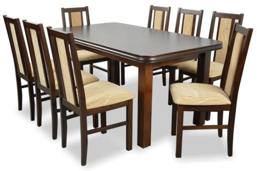 Stół Rozkładany 8 Krzeseł Duzu Zestw Do Salonu